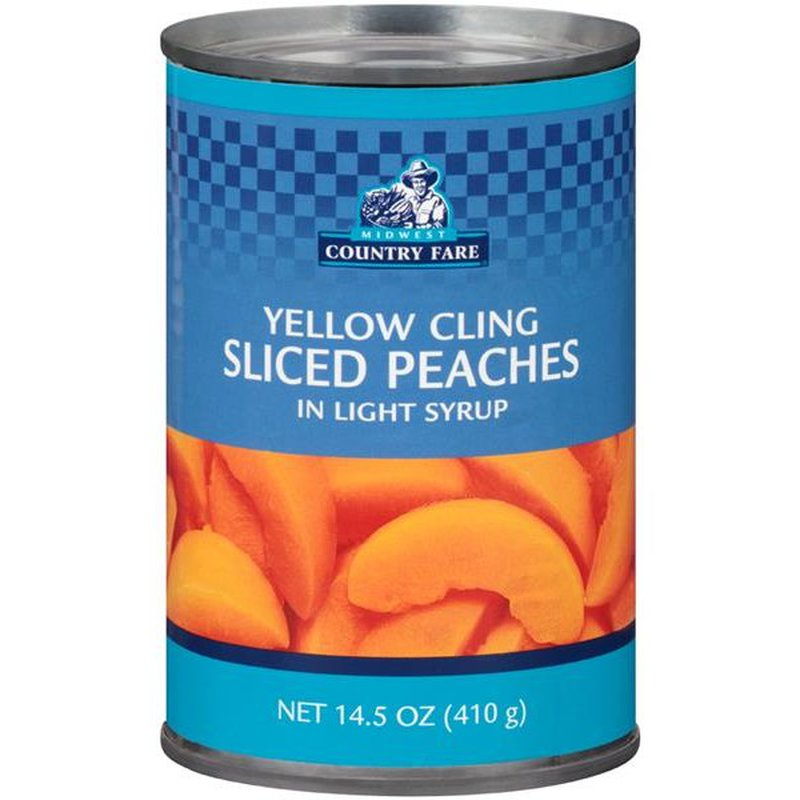 Midwest Country Fare Yellow Cling Sliced Peaches in Light Syrup