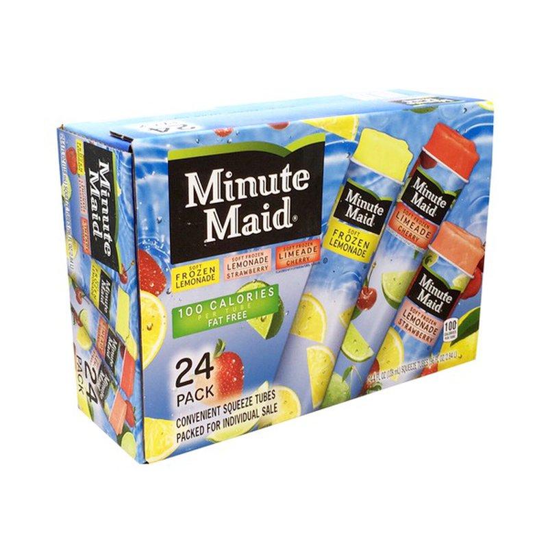 Minute Maid Soft Frozen Lemonade/Soft Frozen Strawberry ...
