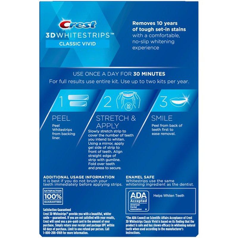 Crest 3d Teeth Whitening Kit 20 Ct Instacart