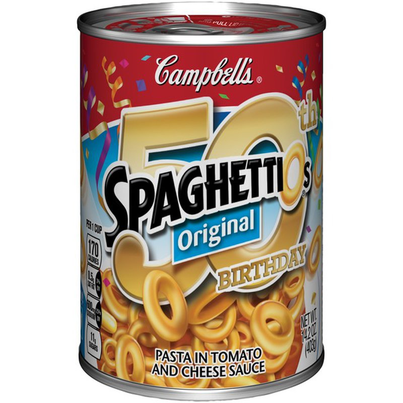 Campbell's® SpaghettiOs Pasta, in Tomato and Cheese Sauce, Original