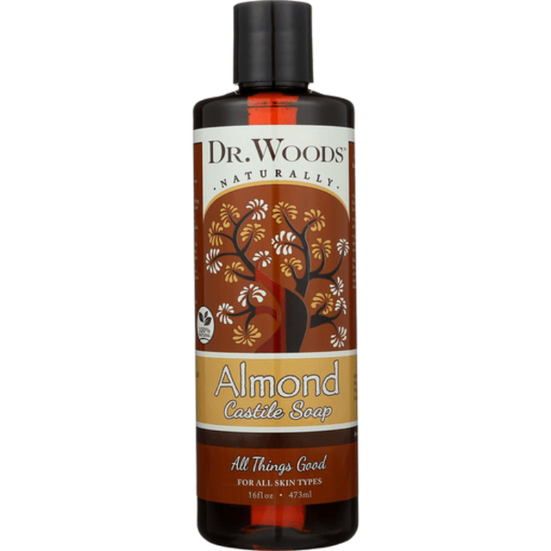 Dr. Woods Soaps Castile Liquid Soap Almond