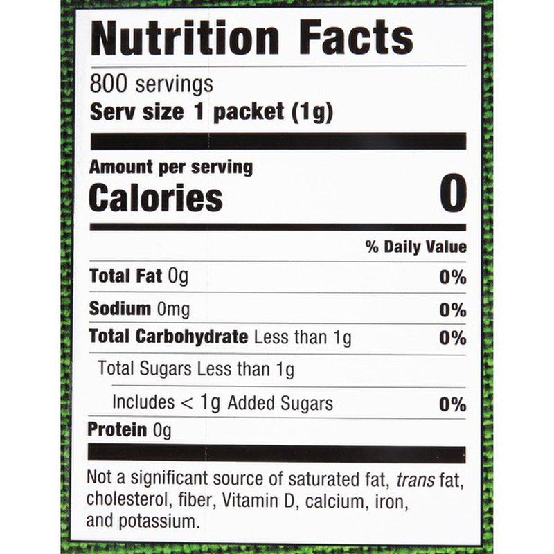 Stevia in the Raw Zero Calorie Sweetener (1 g) - Instacart