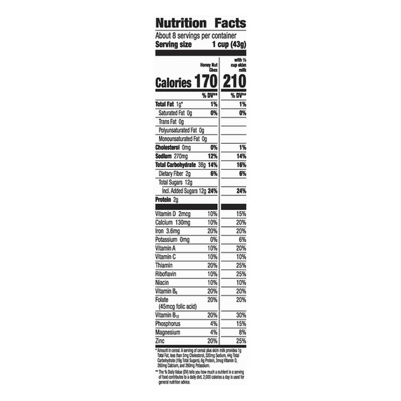 Chex Corn Cereal, Gluten Free, Honey Nut (12.5 oz) from ...