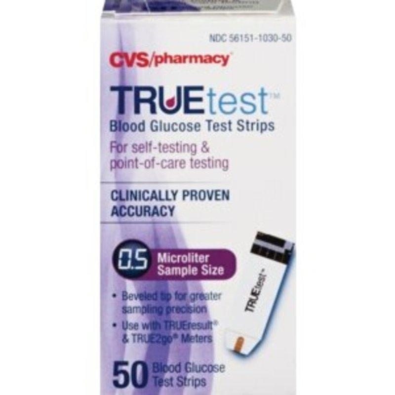 TRUEtest 100 True Track Blood Glucose Test Strips