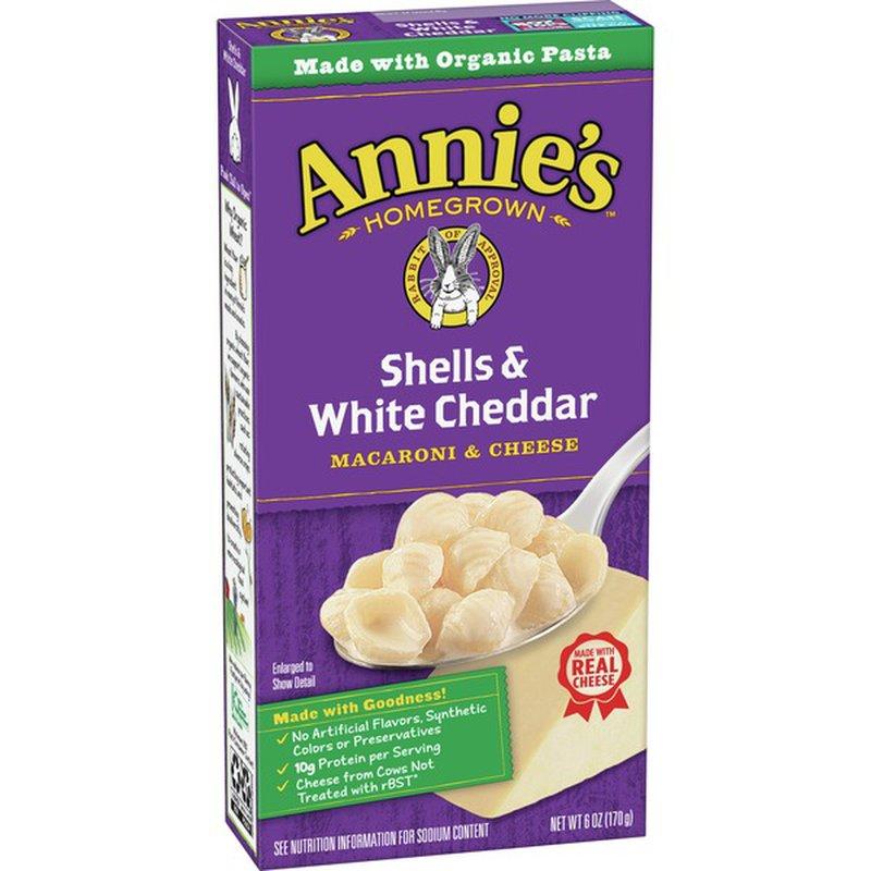 Annie's Homegrown Macaroni & Cheese, Shells & White Cheddar