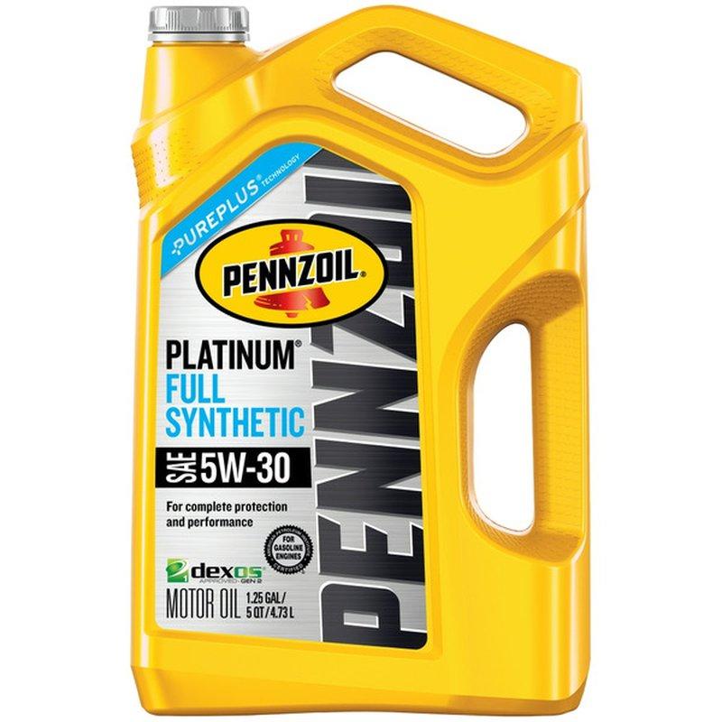 Pennzoil Platinum 5W-30 SAE Full Synthetic Motor Oil