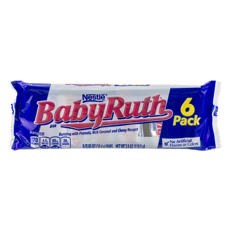 Baby Ruth Bars, 6 Pack (0.65 oz) from Giant Food - Instacart