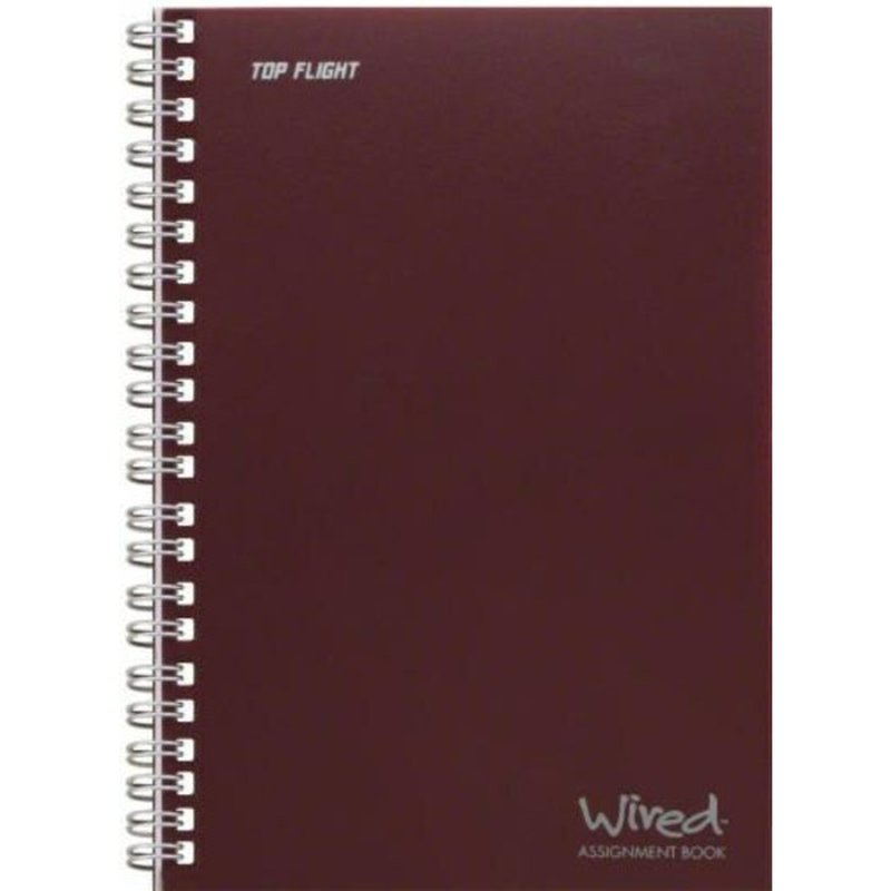 """Top Flight 7.35"""" x 5"""" Wired Assignment Book"""