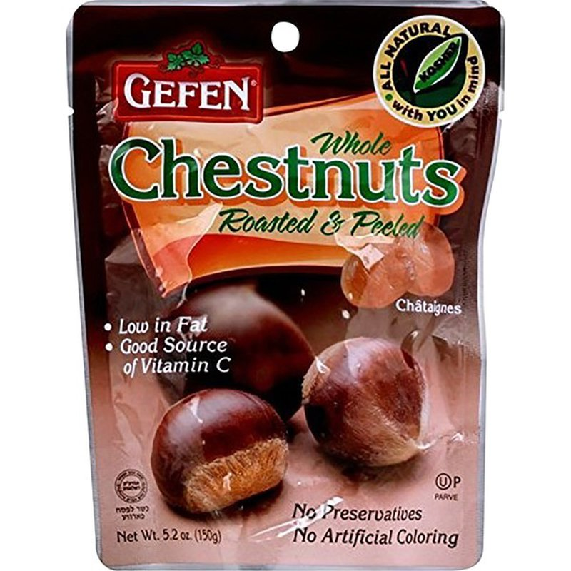 gefen organic whole chestnuts roasted  peeled 52 oz