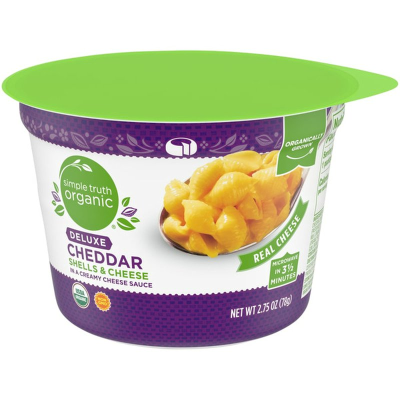 Simple Truth Organic Deluxe Cheddar Shells & Cheese In A Creamy Cheese Sauce