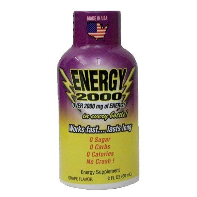 Global Brands Grape Flavor Energy 2000 Drink Shot Energy Supplement