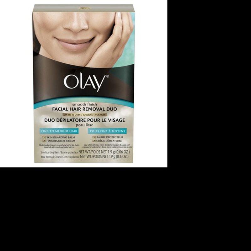Olay Smooth Finish 2 Pcs Facial Hair Removal 1 Ct Instacart