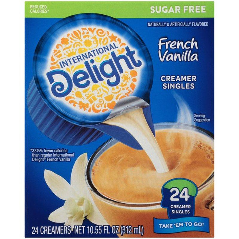 International Delight Sugar Free French Vanilla Coffee Creamer Singles 24 Each Instacart