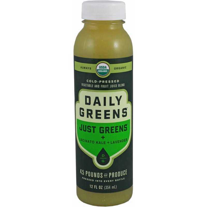 Daily Greens Vegetable And Fruit Juice Blend