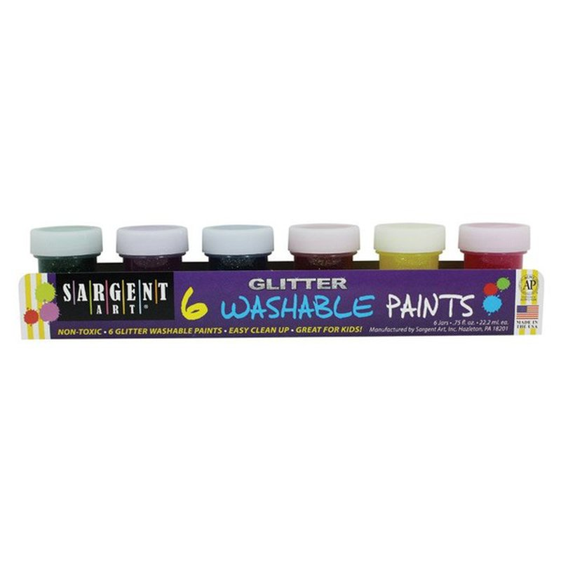 Sargent Art Art-Time Washable Glitter Tempera Paint