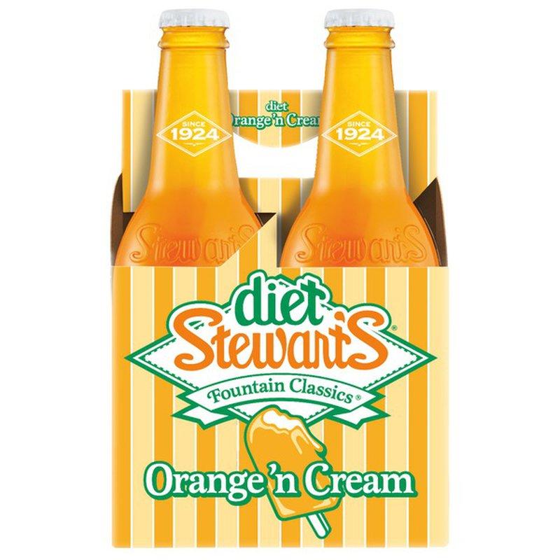 Diet Stewart's Orange 'n Cream Soda (12 fl oz) - Instacart