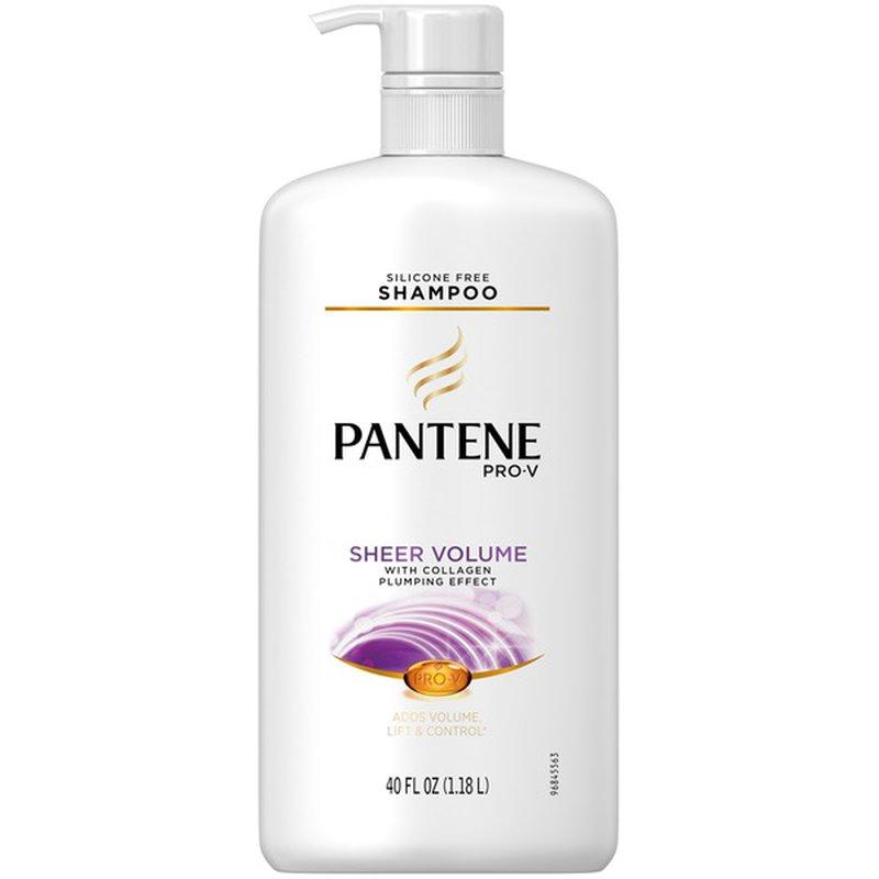 Pantene Sheer Volume Pantene Pro V Sheer Volume Shampoo 40 Fl Oz With Pump Volumizing Shampoo Female Hair Care 40 Fl Oz Instacart