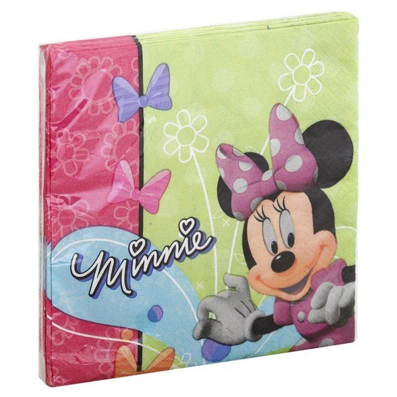Design Ware Napkins, Luncheon, Minnie, 2 Ply