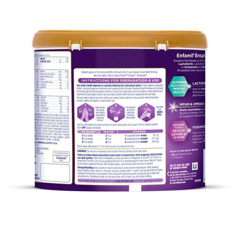 Enfamil® Enspire Gentlease Infant Formula with MFGM ...