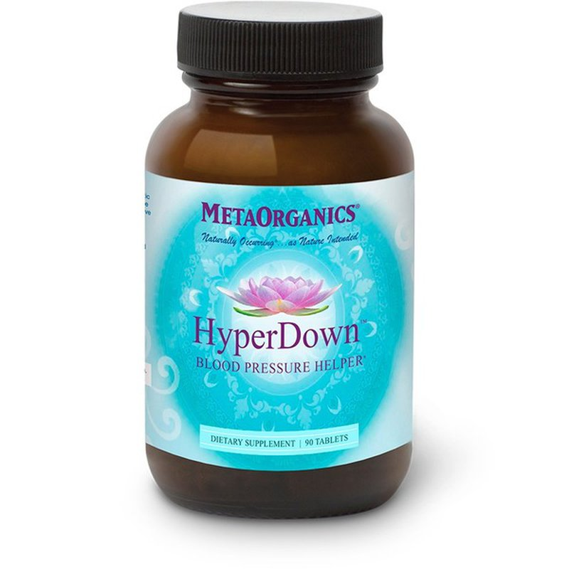 Metaorganics Hyper Down Blood Pressure Helper Tablets