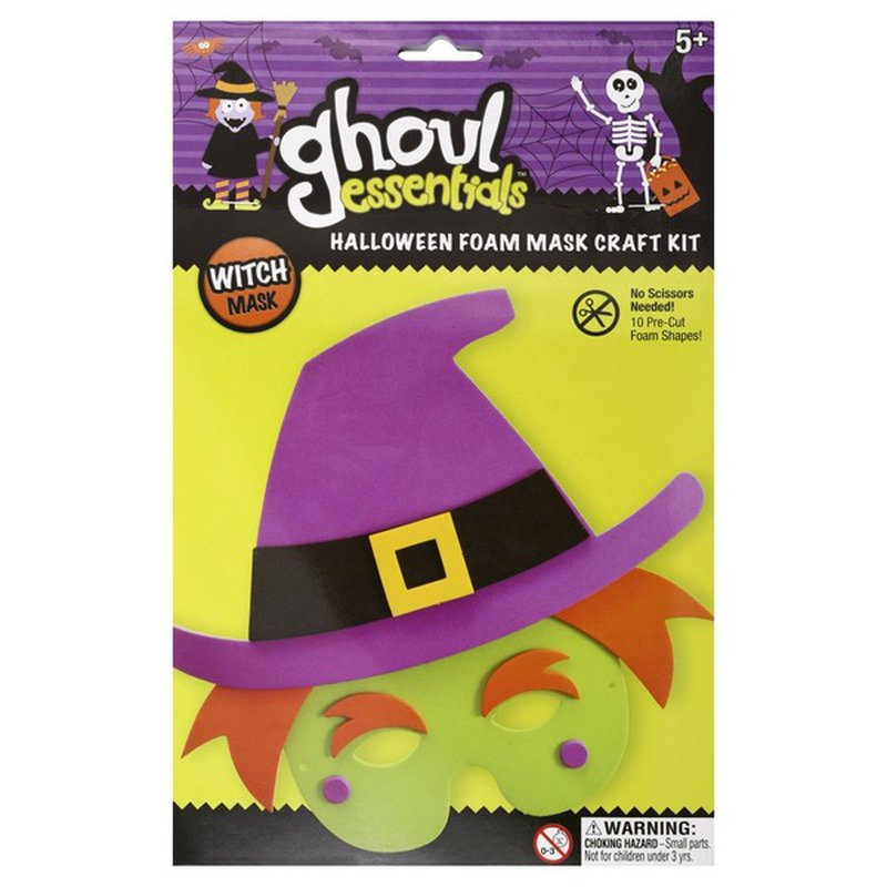 Ghoul Essentials Foam Mask Craft Kit Halloween Witch Mask 1 Each Instacart