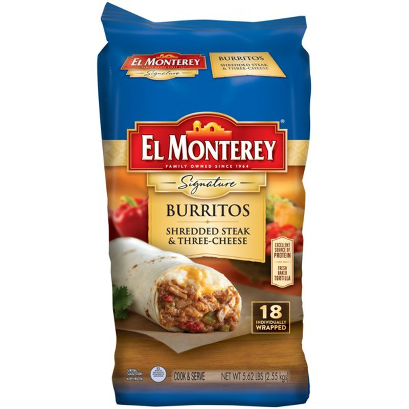 El Monterey Steak & Cheese Burrito, 18 ct