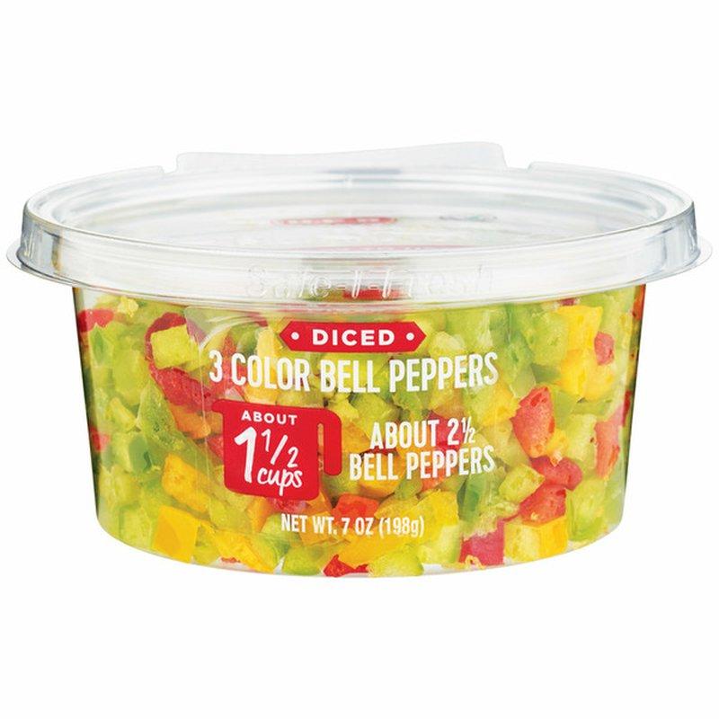 H-E-B Diced Bell Pepper 3 Color