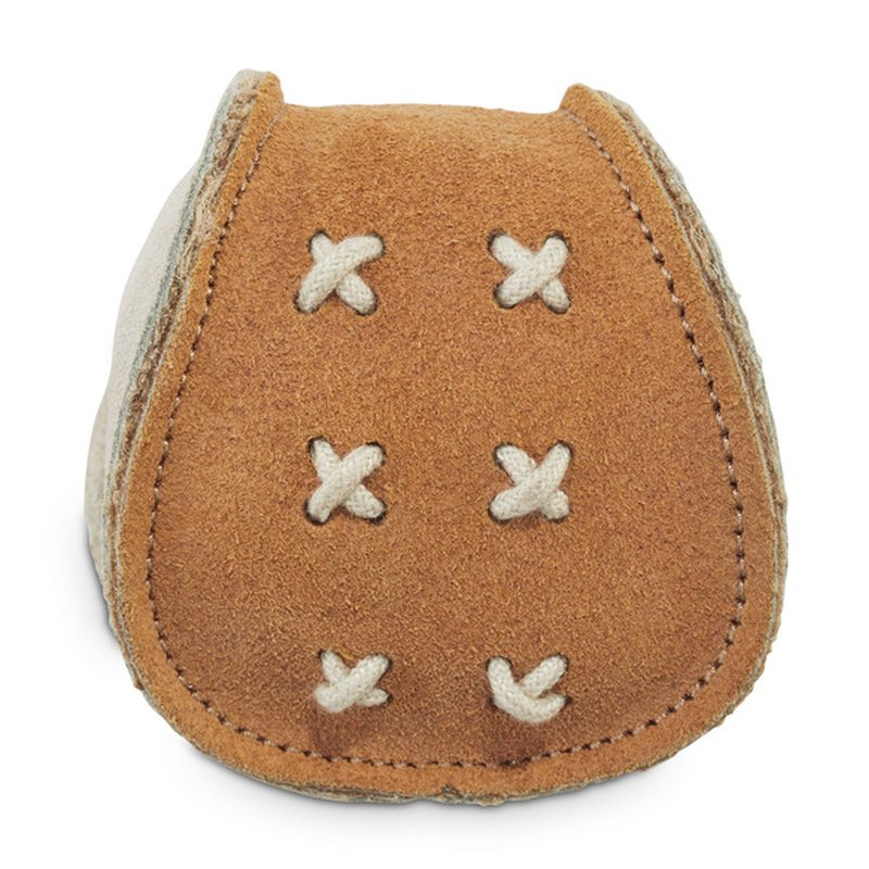 Leaps & Bounds Small Leather Ball Dog Toy