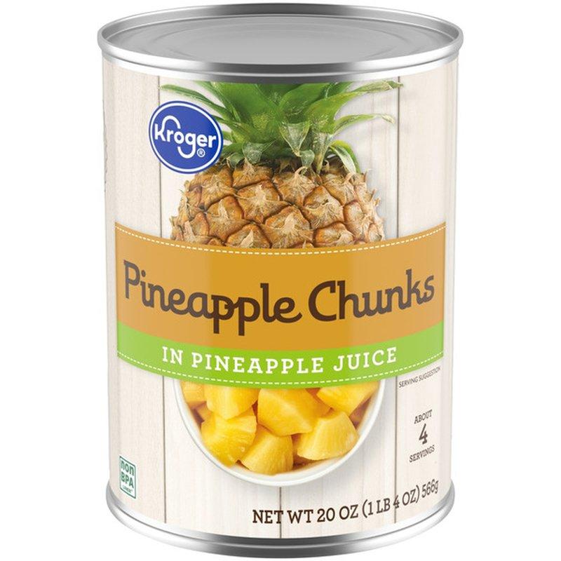Kroger Pineapple Chunks In Pineapple Juice