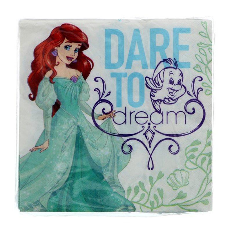 American Greetings Disney Princess Ariel Dream Big Lunch Napkins