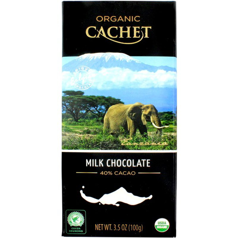 Organic Cachet 40% Cacao Milk Chocolate