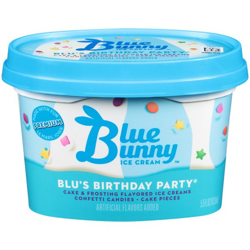 Surprising Blue Bunny Blus Birthday Party Ice Cream 5 5 Fl Oz Instacart Funny Birthday Cards Online Hendilapandamsfinfo