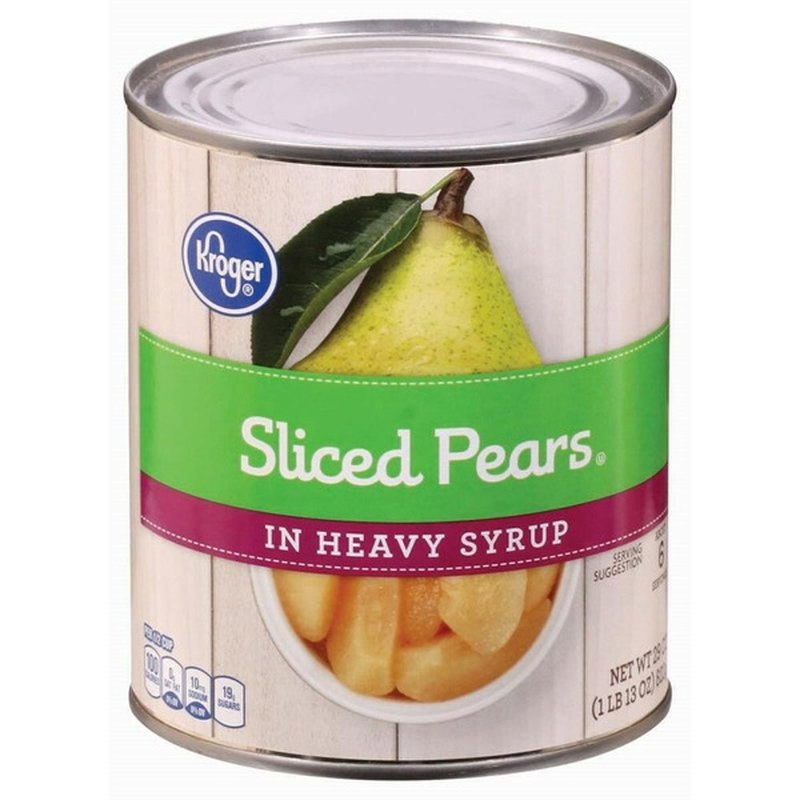 Kroger Pear Slices In Heavy Syrup