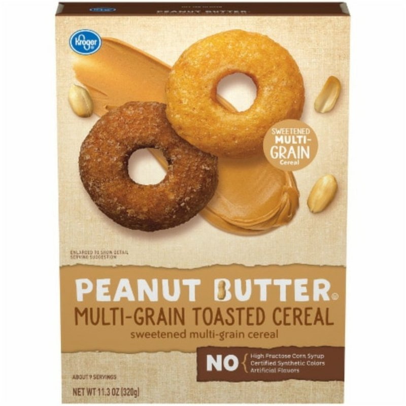 Kroger Peanut Butter Multi Grain Toasted Cereal