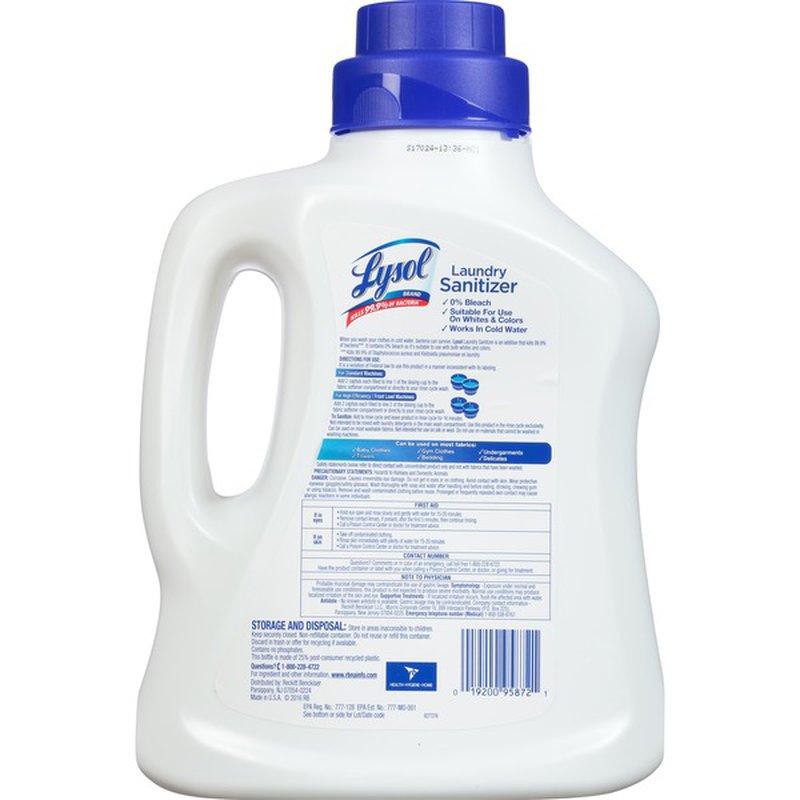 Lysol Crisp Linen Scenet Laundry Sanitizer 90 Fl Oz Instacart