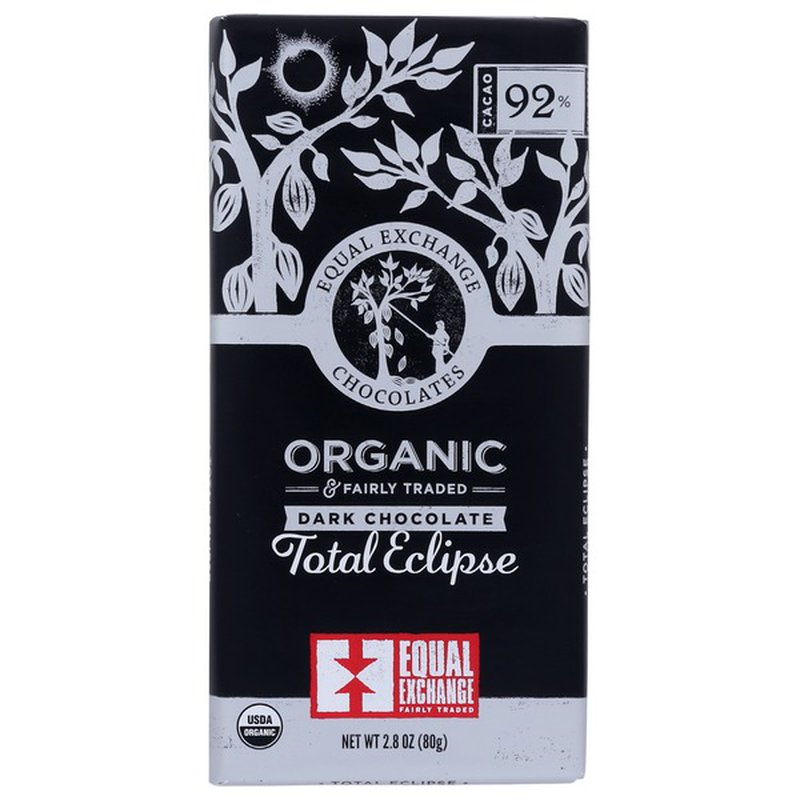 Equal Exchange Total Eclipse ORGANIC 92% CACAO DARK CHOCOLATE