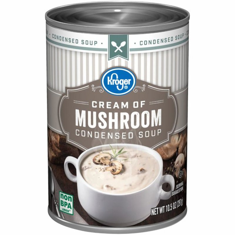 Kroger Cream Of Mushroom Condensed Soup 10 5 Oz Instacart