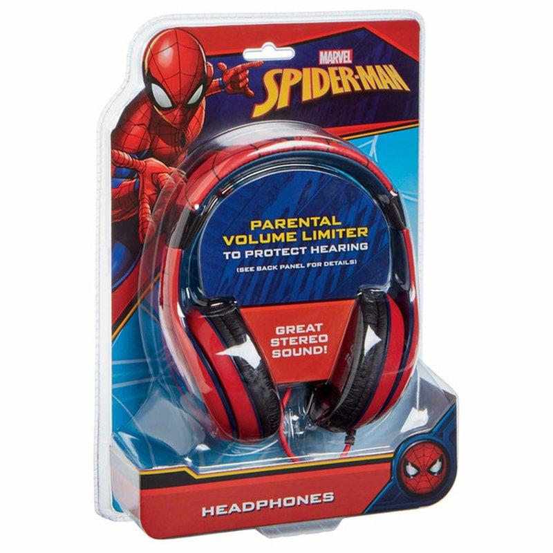 KIDDesigns Marvel Spider-Man Red/Black Kids Headphones