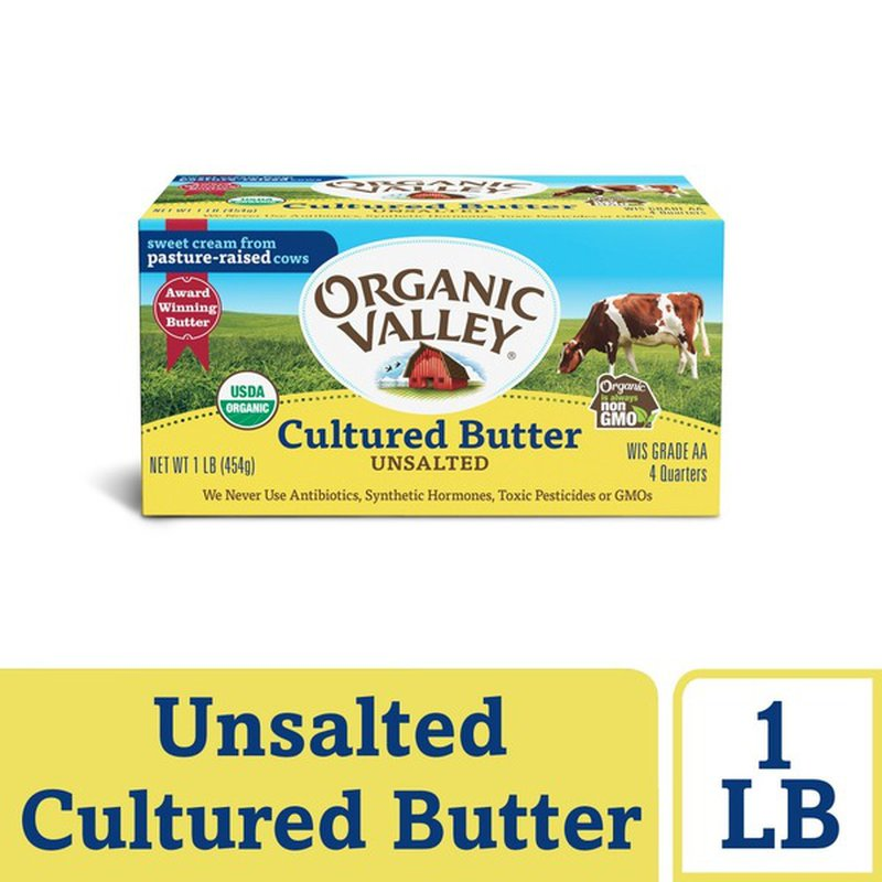 Organic Valley Cultured Unsalted Organic Butter
