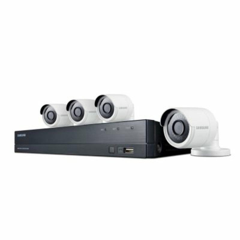 Samsung 8 Channel 4 Megapixel 4 Camera Security System With 1 Tb Hard Drive