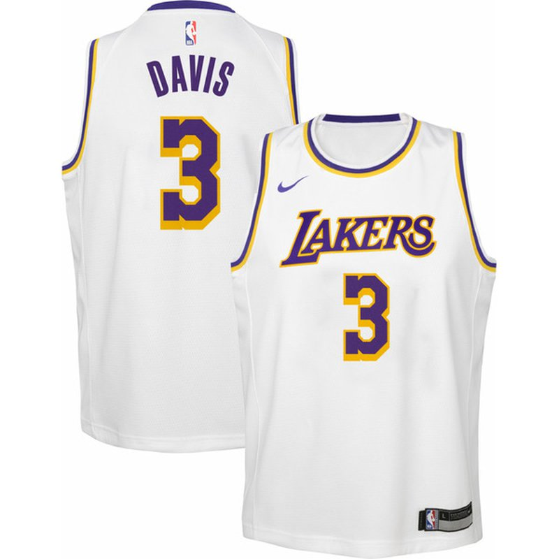 Nike Youth Los Angeles Lakers Anthony Davis #3 Dri-FIT Swingman ...