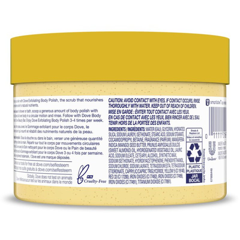 Dove Body Scrub Crushed Almond And Mango Butter 10 5 Oz Instacart