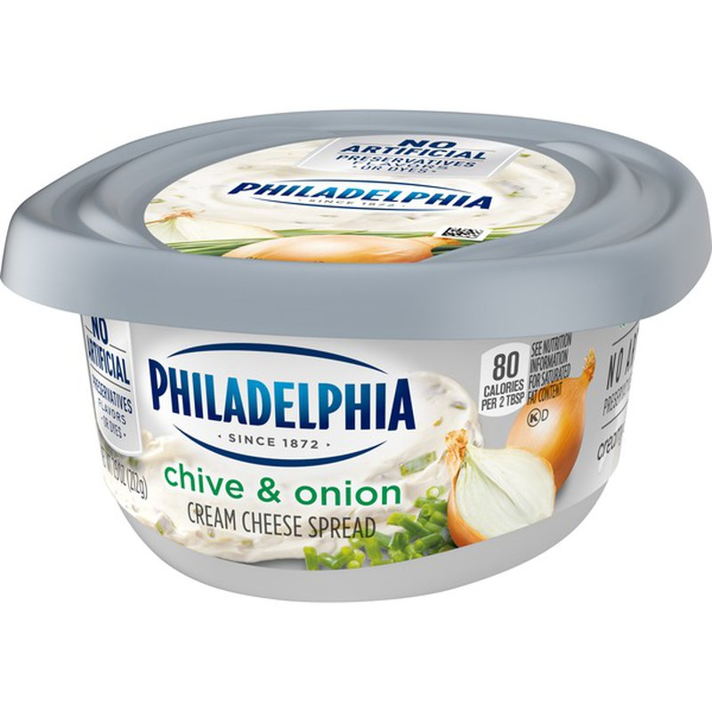 Kraft Philadelphia Chive & Onion Cream Cheese Spread (7.5 ...