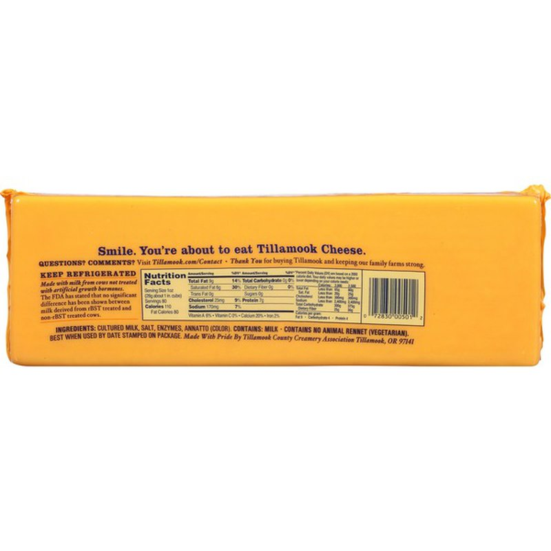 Tillamook Medium Cheddar Cheese Loaf (5 lb) from Costco ...