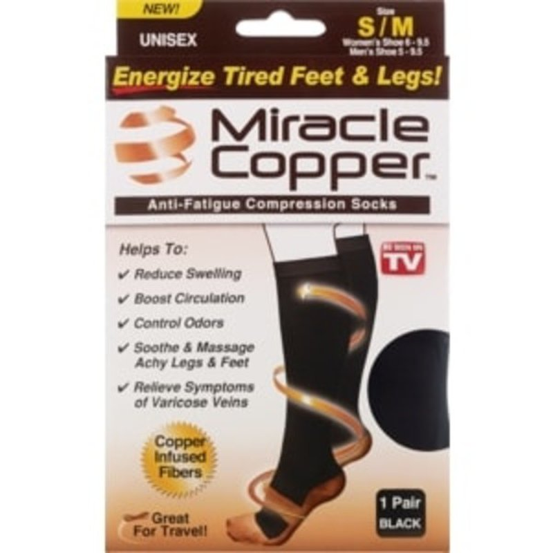As Seen on TV Small Medium Miracle Copper Socks