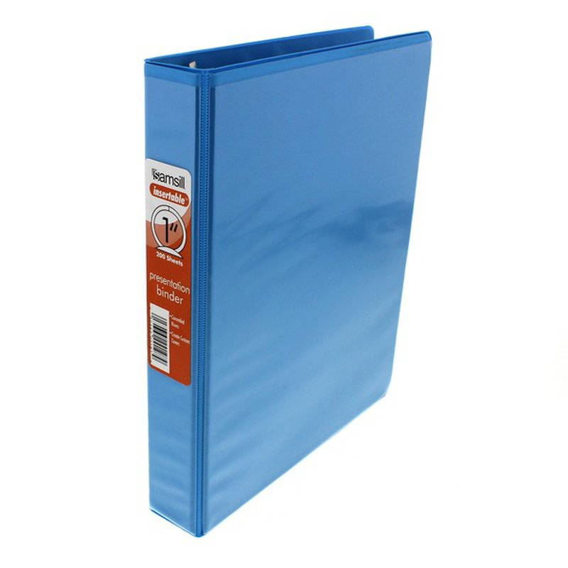 """Samsill 1""""  Note Size Presentation View Binder Assorted Colors"""