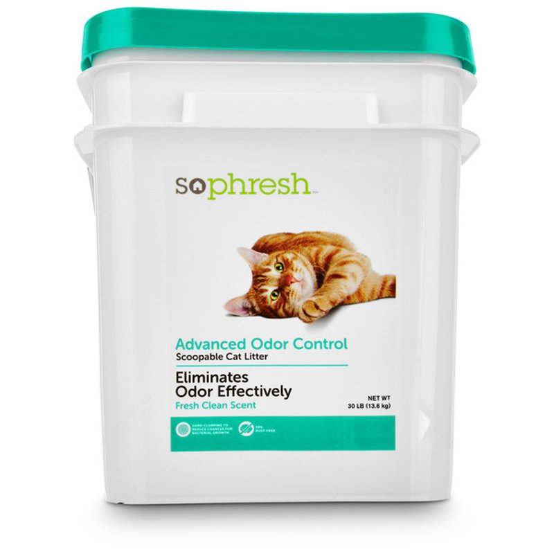 So Phresh Advanced Odor Control Scoopable Clean Scented Cat Litter