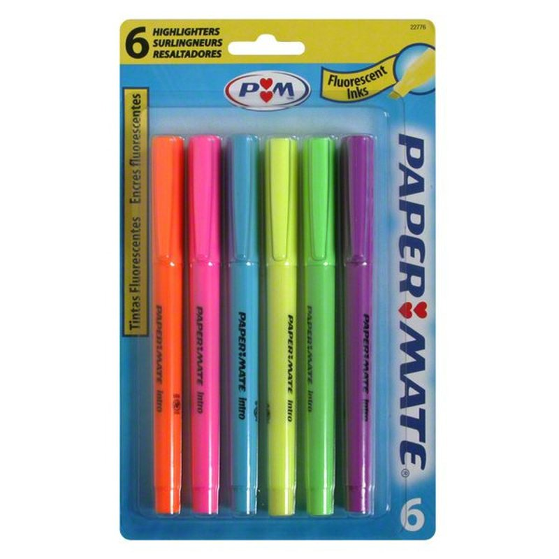 Paper Mate Intro Highlighters Assorted Colors