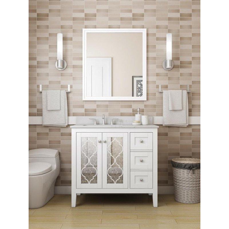 Allen Roth Everdene 36 White Undermount Single Sink Bathroom Vanity With White Engineered Stone Top Each Instacart