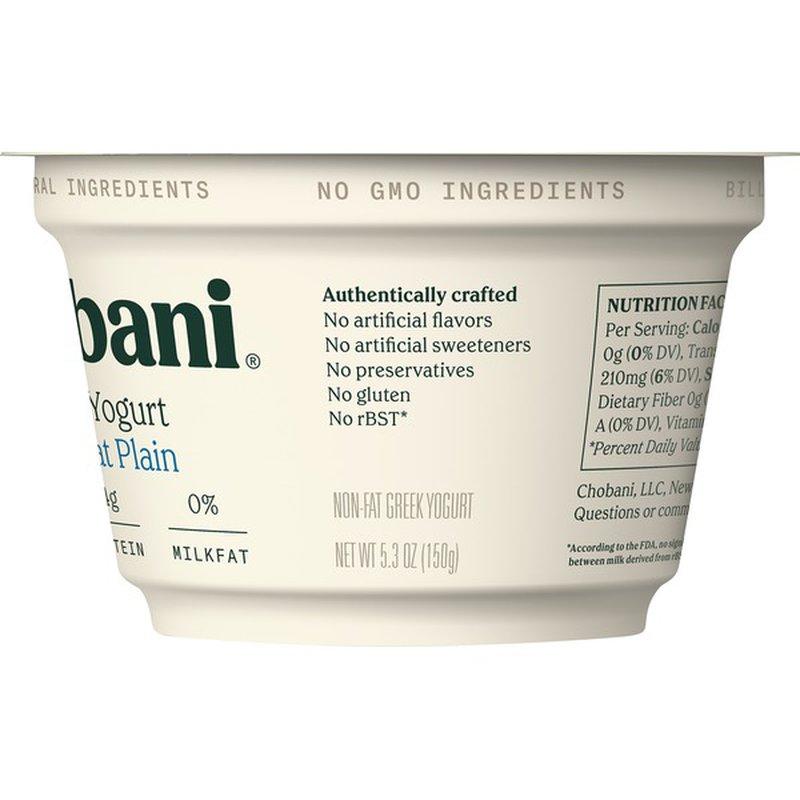 Chobani Yogurt, Greek, Non-Fat, Plain